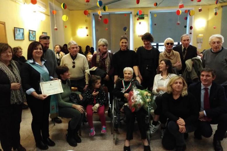 """ultima centenaria festeggiata alla casa di riposo """"città di asti"""